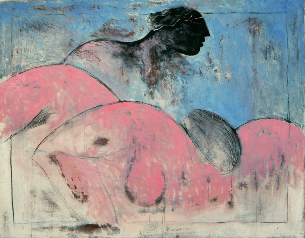 Senza titolo, 1984  Tecnica mista su tela  cm 150 x 200