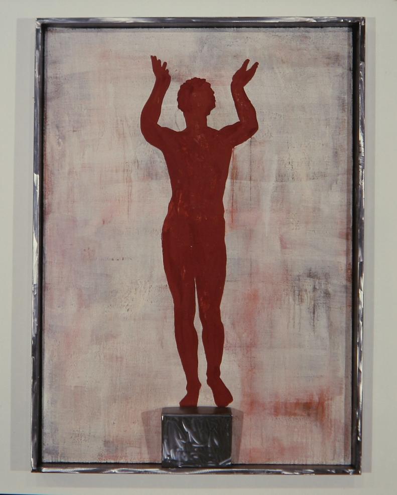 Senza titolo, 1988  Tecnica mista su tela e ferro