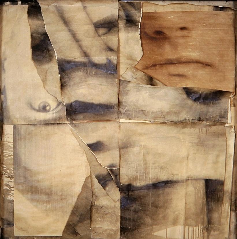 Senza titolo 1992  Emulsione fotografica su carta, ferro, vetro  cm 124 x 124