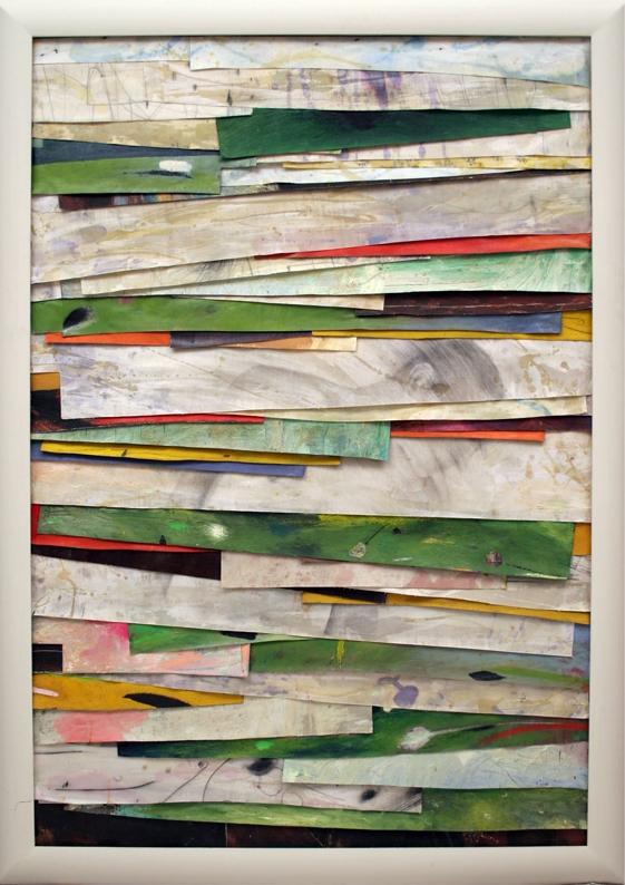 Senza titolo, 2004  Olio, grafite e cera su tela montata su legno  cm.200 x 150