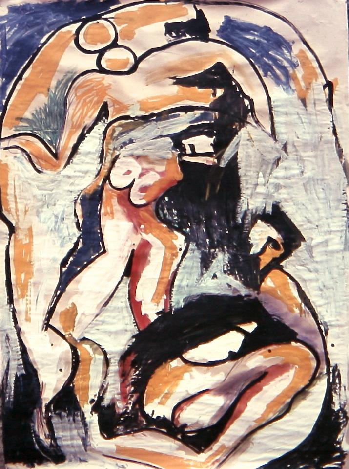 Senza titolo, 1981  Tecnica mista su carta  cm 200 x 150
