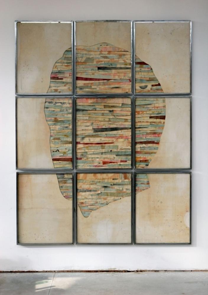 Senza titolo,  2012  Tecnica mista su carta e tela incollata su legno  cm 280 x 220