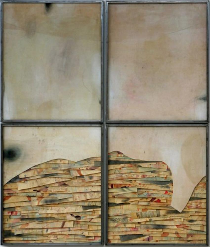 Senza titolo , 2012  Tecnica mista su carta e tela incollata su legno  cm 200 x 170