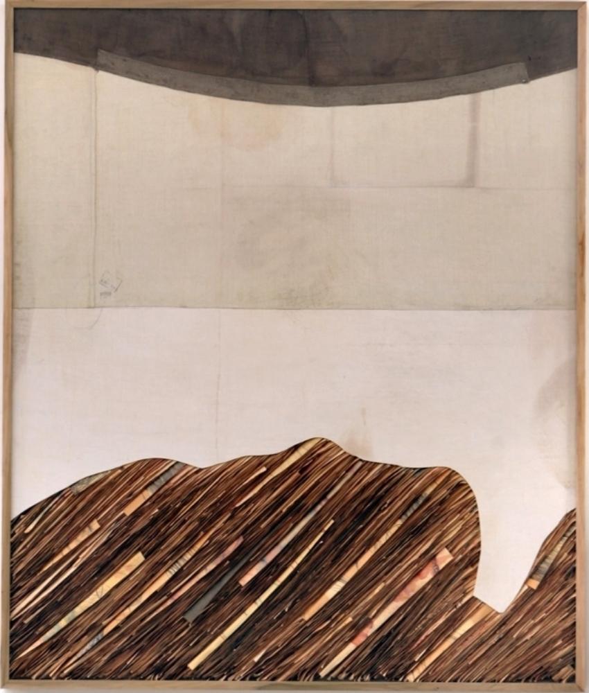 Senza titolo , 2013  Tecnica mista su carta e tela incollata su legno  cm 197 x 167