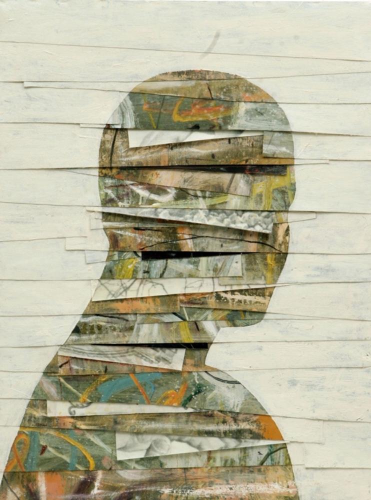 Senza titolo, 2008  Olio, grafite e cera su tela  cm 85 x 65