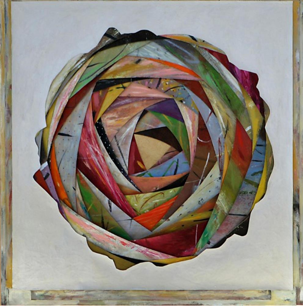 Senza titolo,  2011  Olio su tela montata su legno  cm.160 x 160