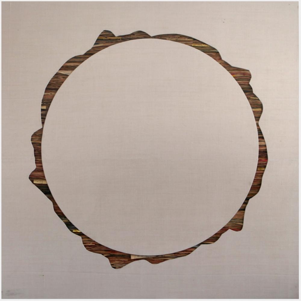 Senza titolo, 2012  Tecnica mista su carta e tela incollata su legno  cm 160 x 160