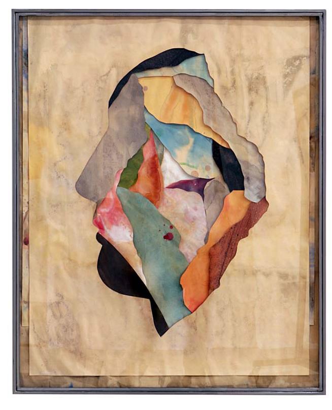 Senza titolo, 2015 Tecnica mista su carta e tela incollata su legno cm 113 x 92