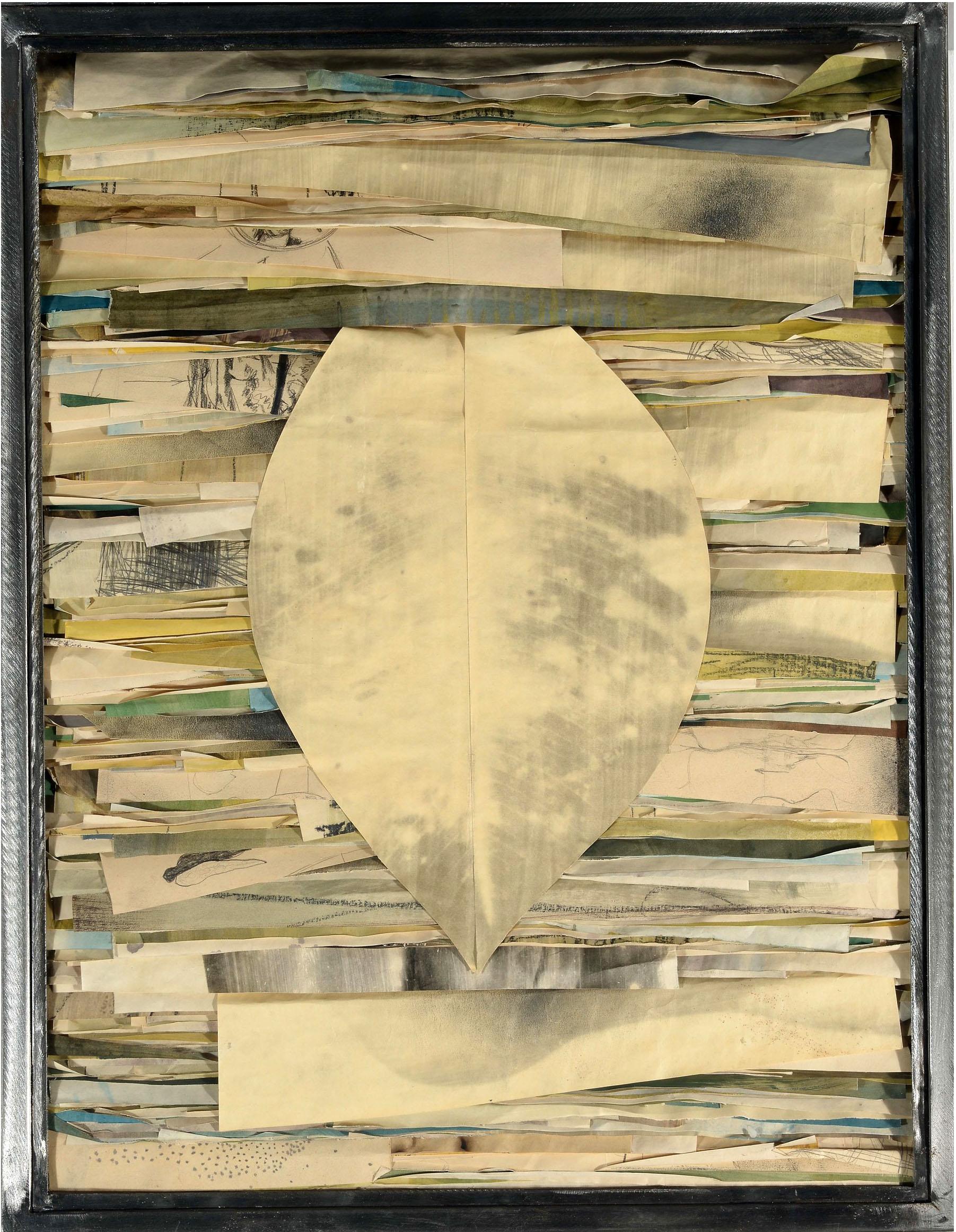 Senza titolo 1998  Tecnica mista su carta , ferro, vetro  cm. 80 x 61,5