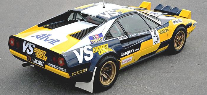 ….Example of a Group 4 Ferrari 308 GTB ..Voorbeeld van een Groep 4 Ferrari 308 GTB ….