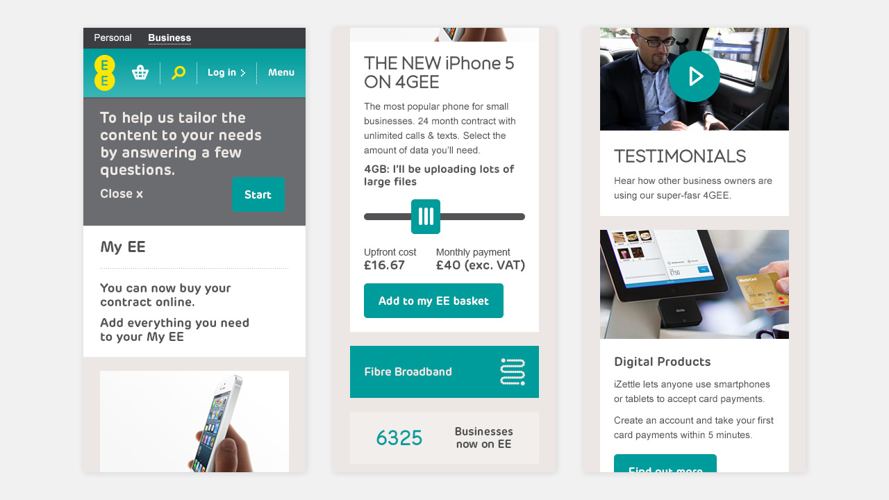 EE Small Business  mobile version