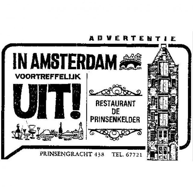 Een advertentie van vroeger! Voortreffelijk uit in Amsterdam kan nog steeds bij mij! #thijsbydikkerenthijs #amsterdam #prinsengracht #watzijnweuit #etenbijthijs #lekker