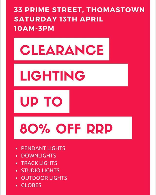 Come along to our Easter Sale tomorrow! With prices up to 80% off you won't be leaving without something 🎈#eastersale #melbournesales #husshsales #saturdaysale #lightingsales #pendantlighting @husshsales