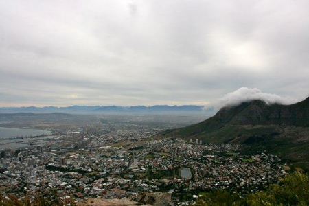 A view of the city of Cape Town from Lions Head.