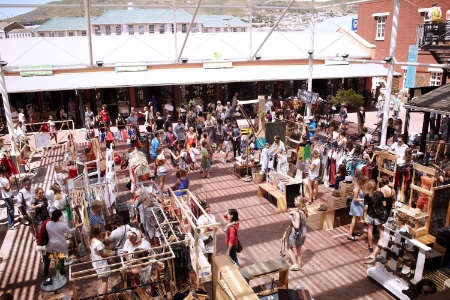 The Neigbourgoods Market at the Old Biscuit Mill on a Saturday morning.