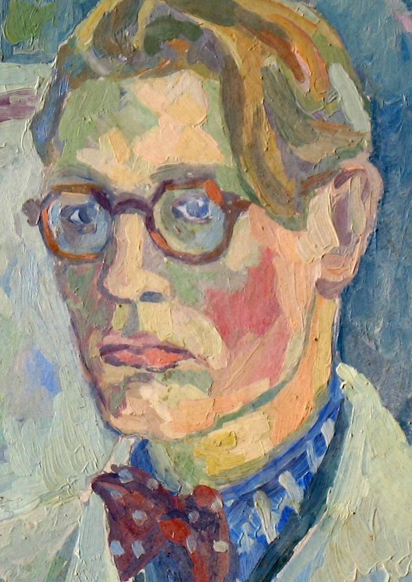 Selvpostrett 1943  Olje på plate    41 x 33 cm