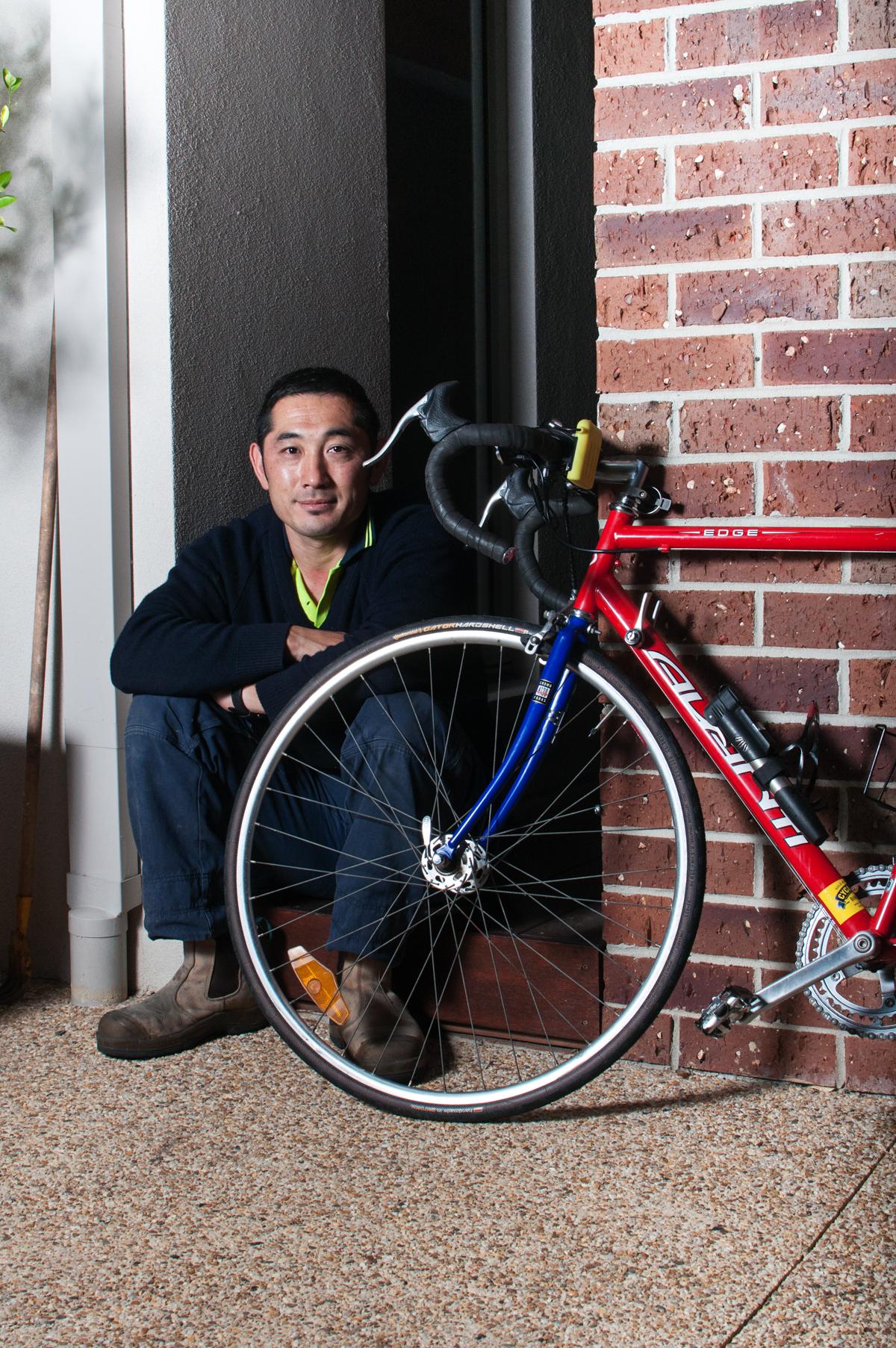 #03 - TAKESHI UMEZU   BIKE: AVANTI EDGE COMP SERIES ROAD BIKE