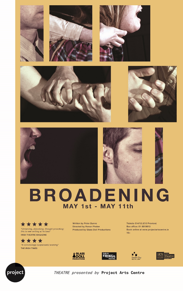 BROADENING Poster - Project Arts Centre 2013