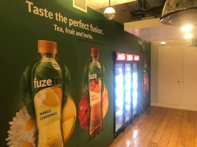 Fuze Tea branding at Coca-Cola