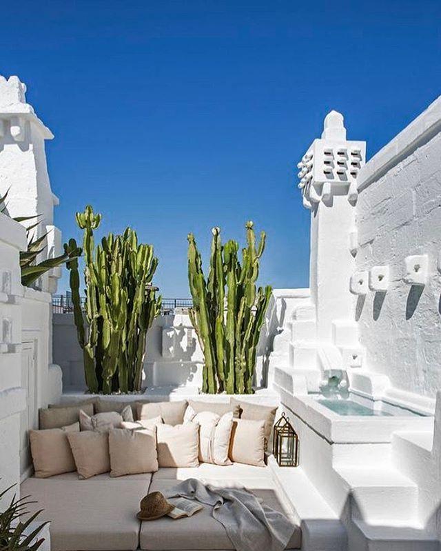 Terrace settings.