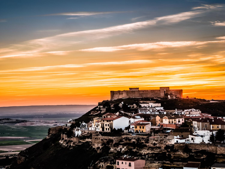 Sunset Over  Chinchilla de Monte-Aragón