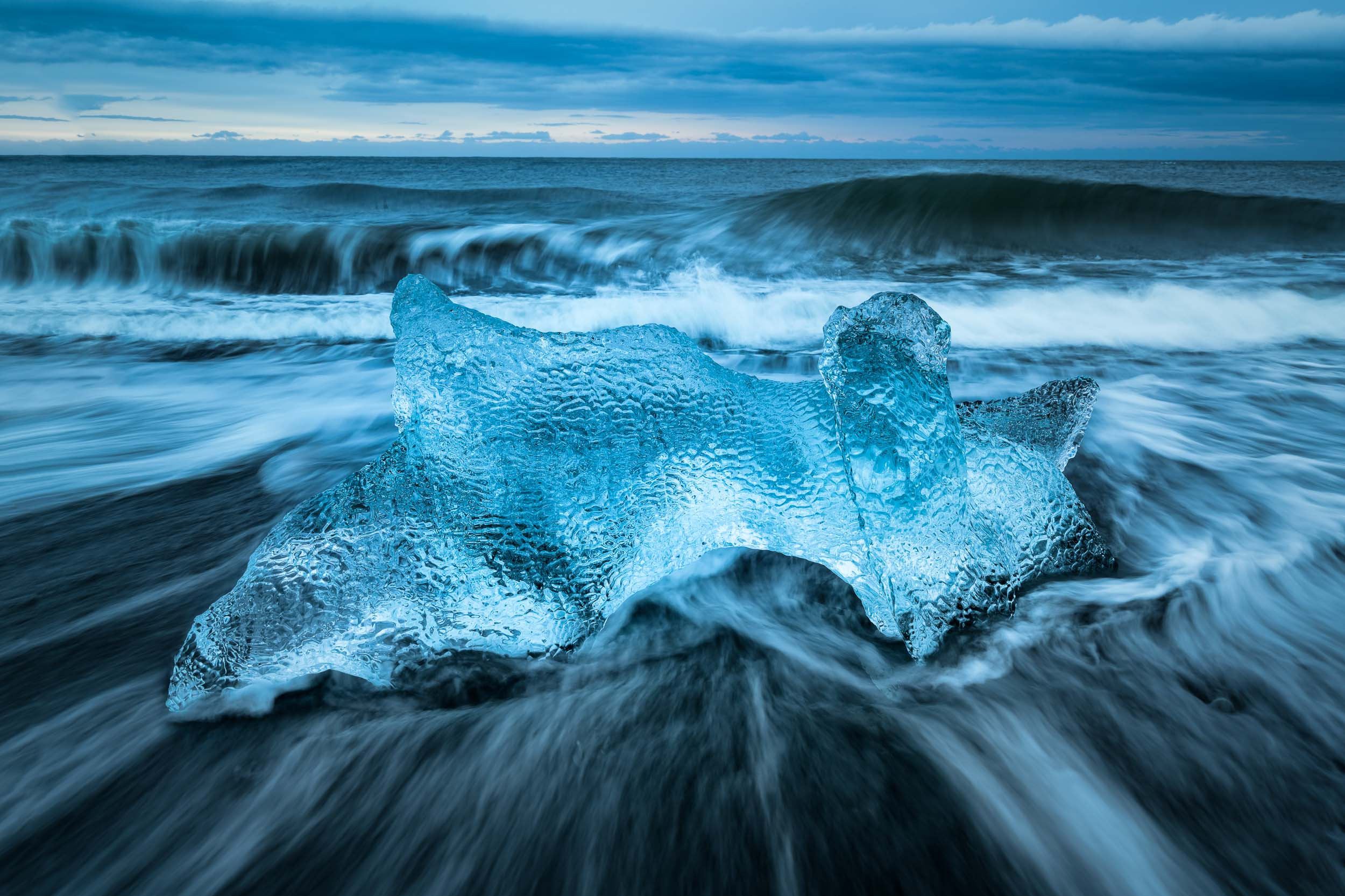 1/3 of a second, just enough time to capture the motion for the waves in Iceland.