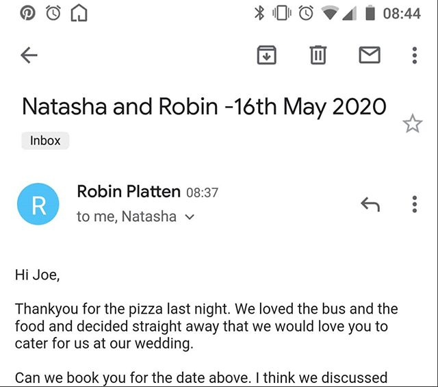 A massive congratulations to Natasha and Robin our their engagement! We look forward to tossing the Neapolitans at your wedding next year 🍕🏳🎉❤ #Wedding #ShackingUp #pizzabus #foodie
