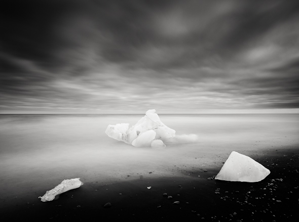 Title: Ice and Sea # 1, Camera: Canon EOS 5D mark II, Lens: Canon EF 17-40 f /4L USM, Filtr: Lee Big Stopper and Lee ND Grad 0.6, Exposure: 90″ , f 18, ISO: 50