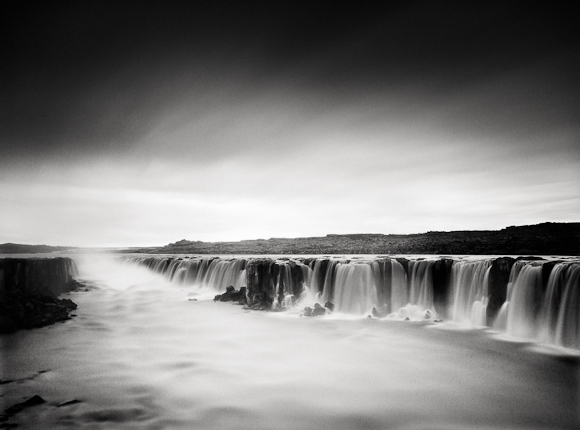 Title: Selfoss, Camera: Canon EOS 5D mark II, Lens:Canon EF 17-40 f /4L USM, Filtr: Lee Big Stopper and Lee ND Grad 0.6, Exposure: 630″ , f 13, ISO: 250