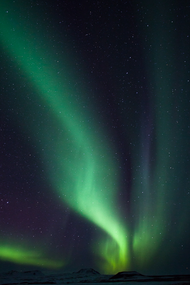 Northern Lights over Krafla, Camera: Canon 5D Mark II, Lens: Canon 17-40, f4 L