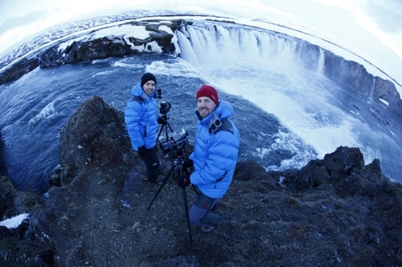 Ota & I by Godafoss, Iceland