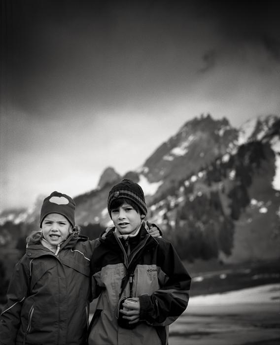 Title: Valerie and Filip, Camera: Mamiya Pro S, Lens: Sekor 90 mm, Film: Kodak T-Max 400, La Clusaz, France, 2014