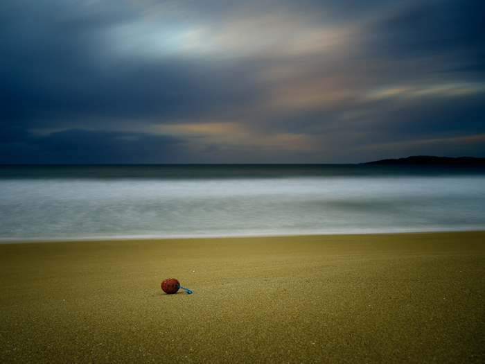 Caption: Buoy and Sky, Camera: Phase One 645DF+, Lens: Schneider-Kreuznach 45mm, Digital Back: Phase One IQ250, ISO: 100, Speed: 1m 11s, Aperture: f/5.6, Filters: Lee ND Graduated 0.6, Lee ND 0.9