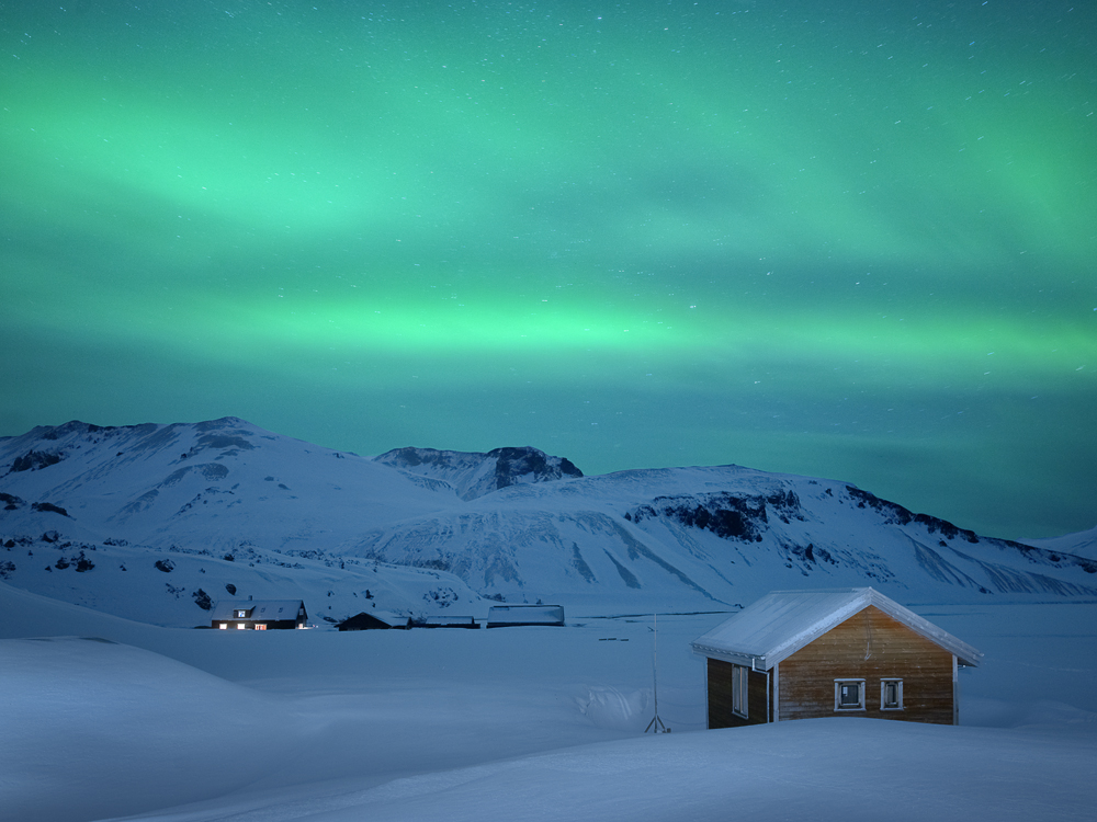 Capture: Northern Lights in Landmannalaugar, Camera: Hasselblad H1, Lens: 35mm, Digital Back: Phase One P30, ISO: 800, Exposure: 1'42'', Aperture: f/3.5, No Filters