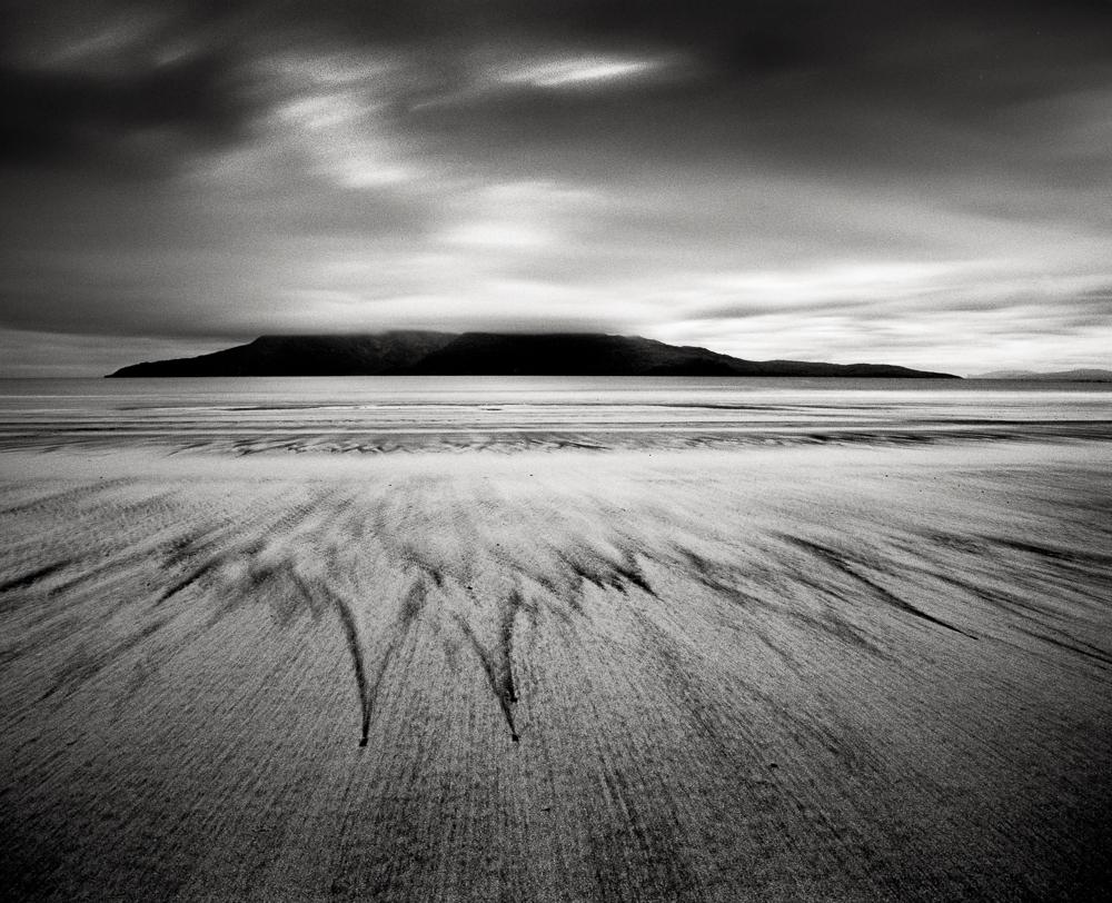 "Title: Bay of Laig 6, Camera: Mamiya RB 67 Pro SD, Lens: Sekor 50 mm, Film: Kodak T-Max 100, Exposure: 180"", f 16, Eigg, Scotland, 2013"