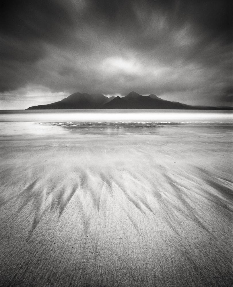 "Title: Bay of Laig 5, Camera: Mamiya RB 67 Pro SD, Lens: Sekor 50 mm, Film: Kodak T-Max 100, Exposure: 85"",f 16, Eigg, Scotland, 2013"