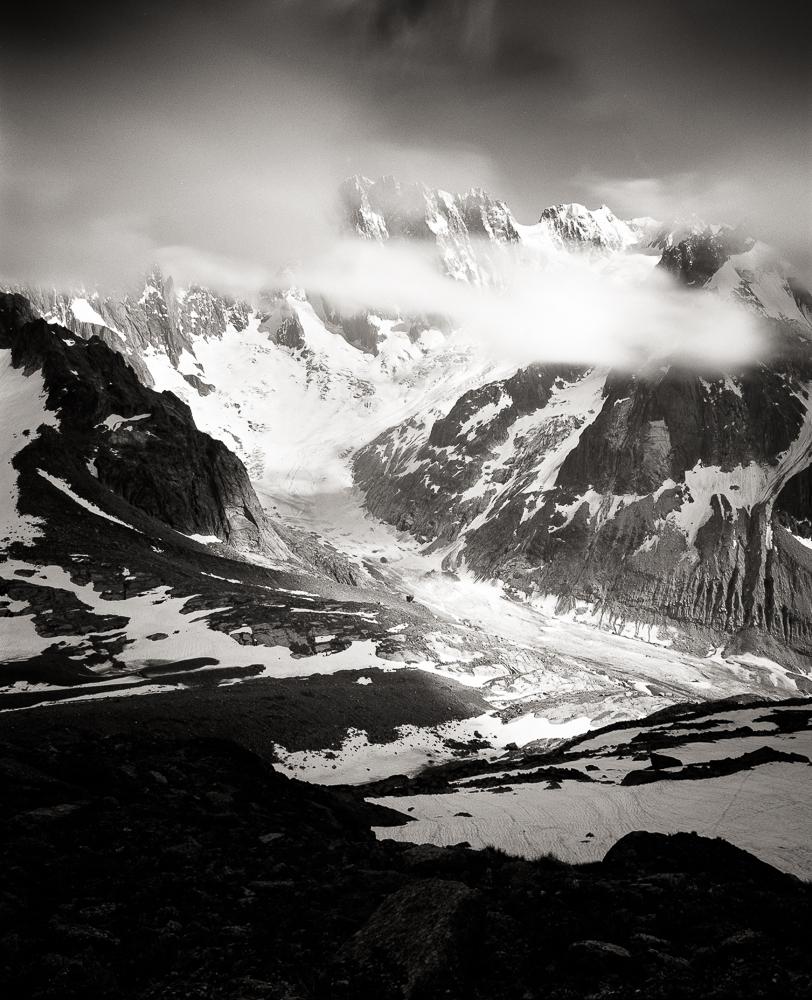 The Crown Jewel of Mont Blanc Massif - Grandes Jorasses, Mamiya RB 67 Pro SD, Kodak T-Max 100