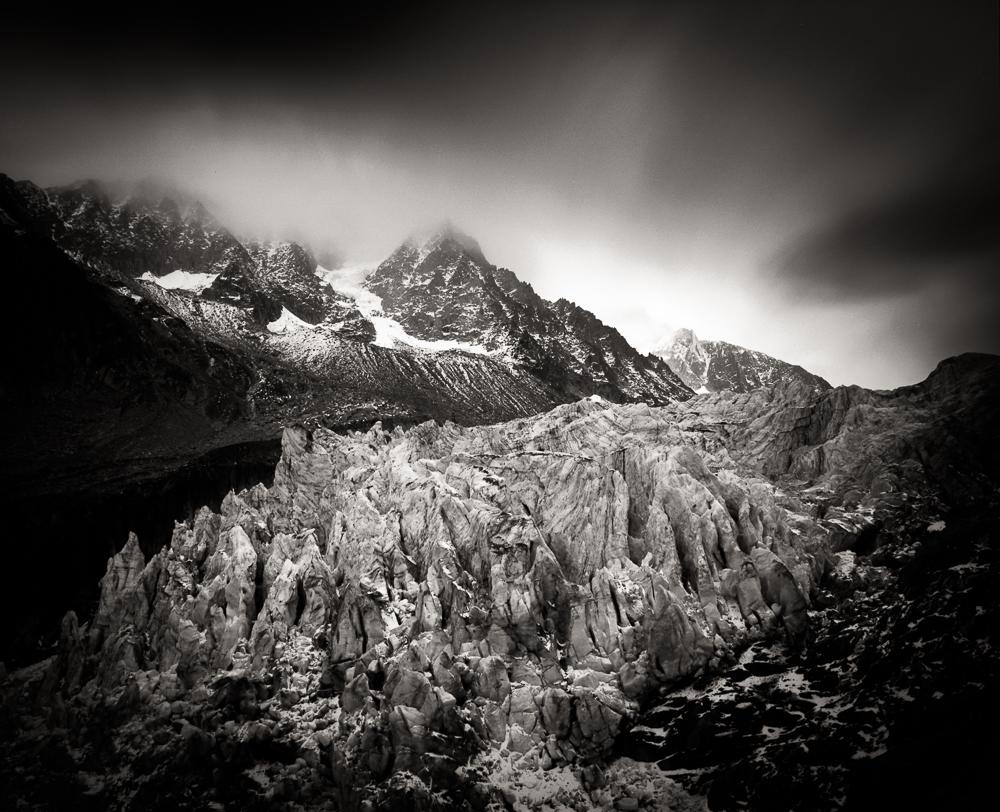 Glacier du Argentiere, Mamita RB 67 Pro SD, Kodak T-Max 100, LEE Big Stopper