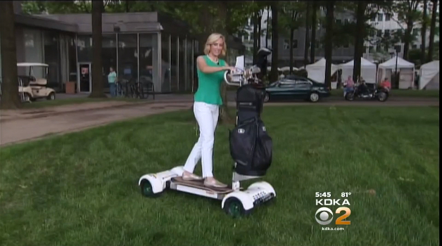 KDKA's Kristin Sorenson reporting on GolfBoard at Butler Country Club.