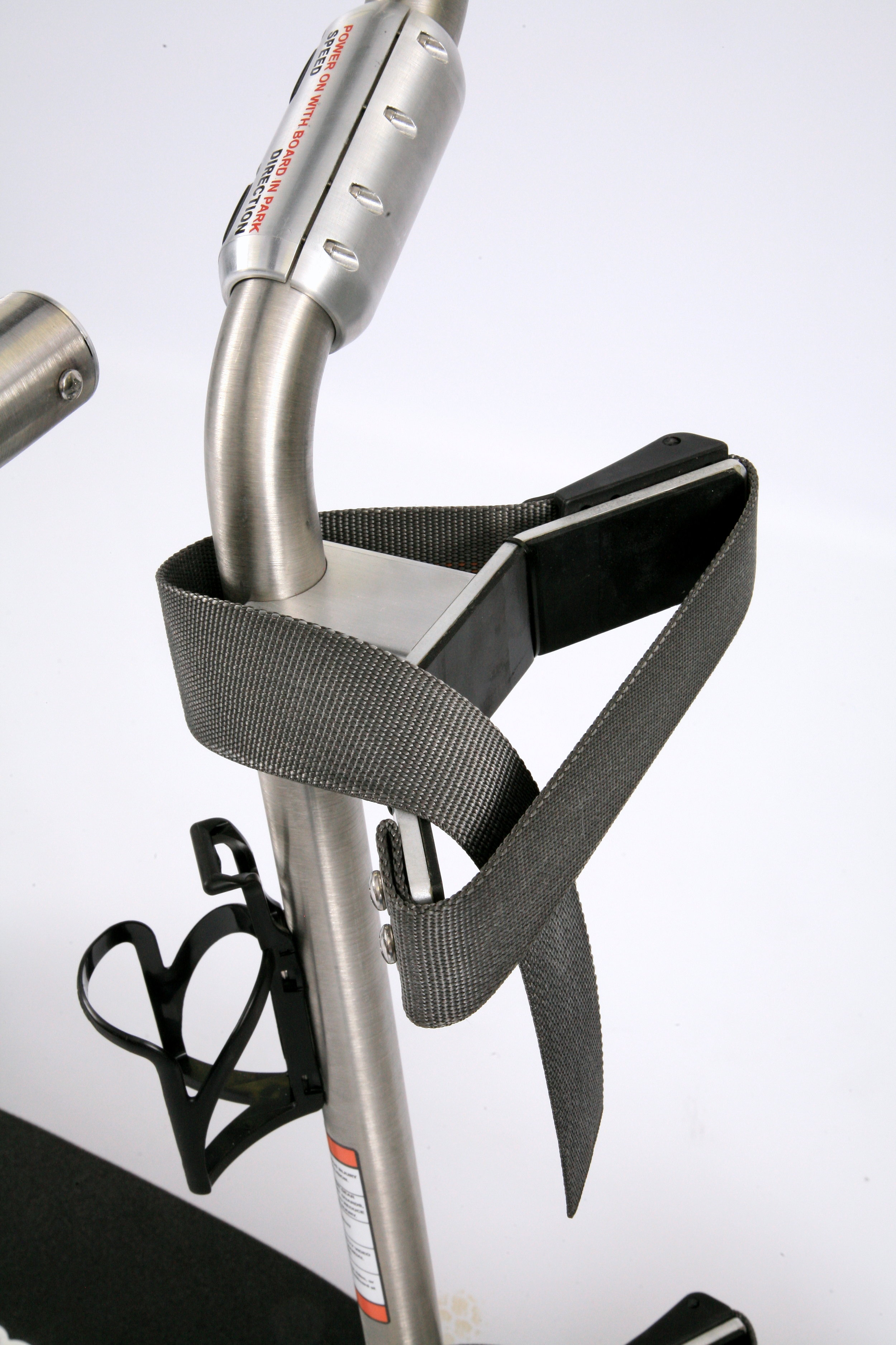 Adjustable bag straps with easy use clamping system