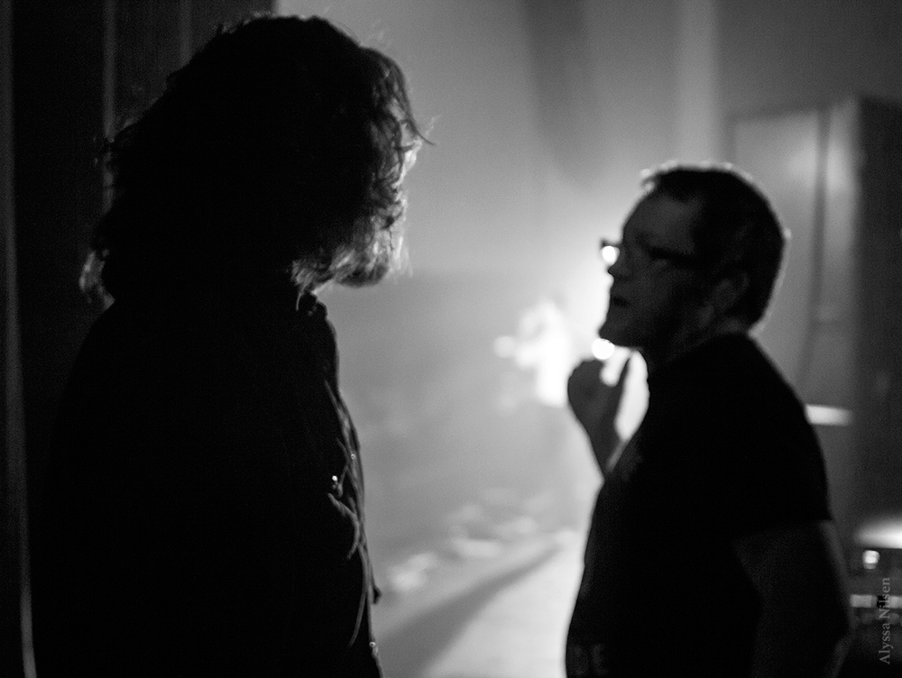Tim Omundson waiting to go onstage in Southampton