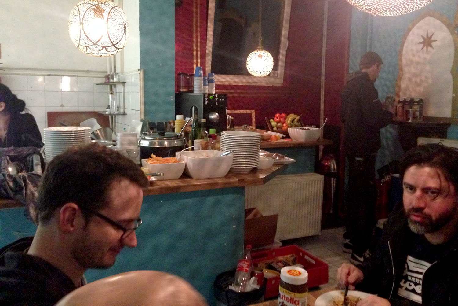Catering backstage in Hamburg. The food was so good!