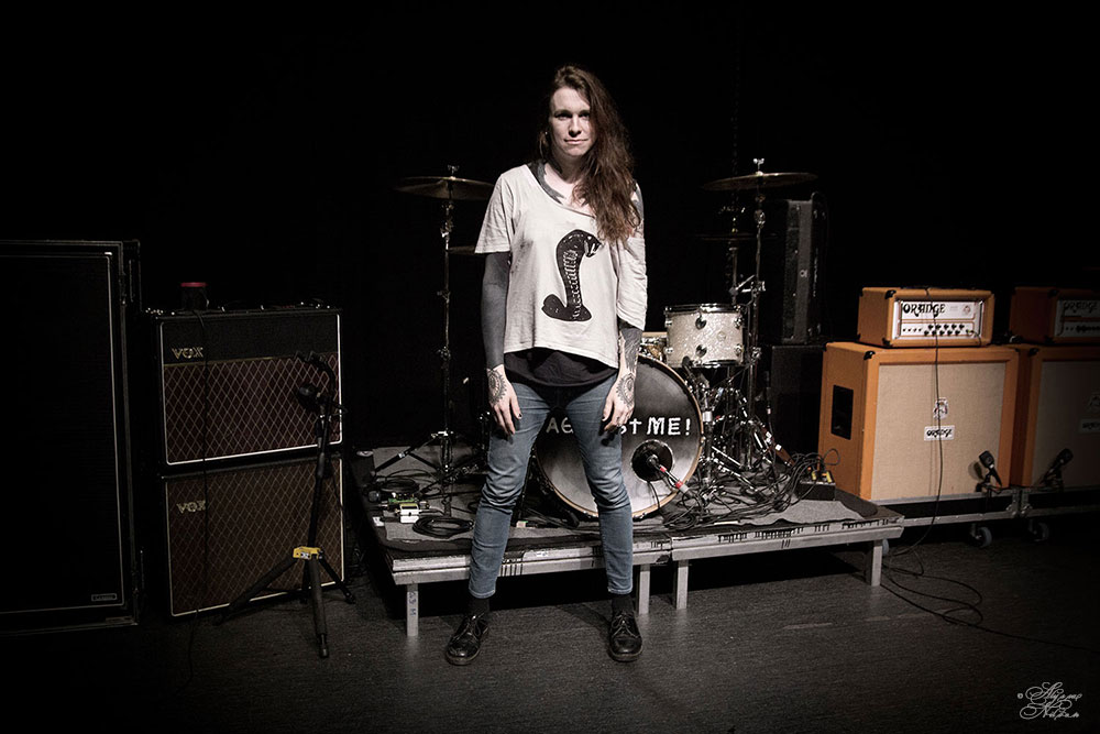 Laura Jane Grace on the Rockefeller stage in Oslo, Norway. April 2015.