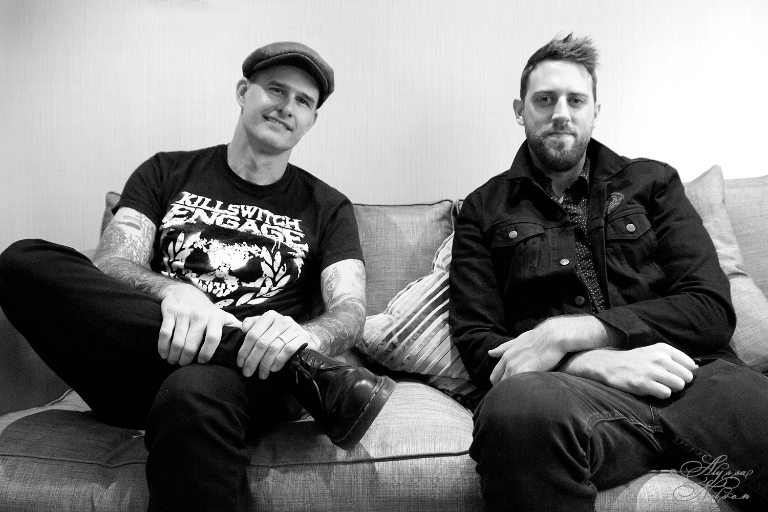 Al Barr and Tim Brennan from Dropkick Murphys, London, January 2017. Photo: Alyssa Nilsen