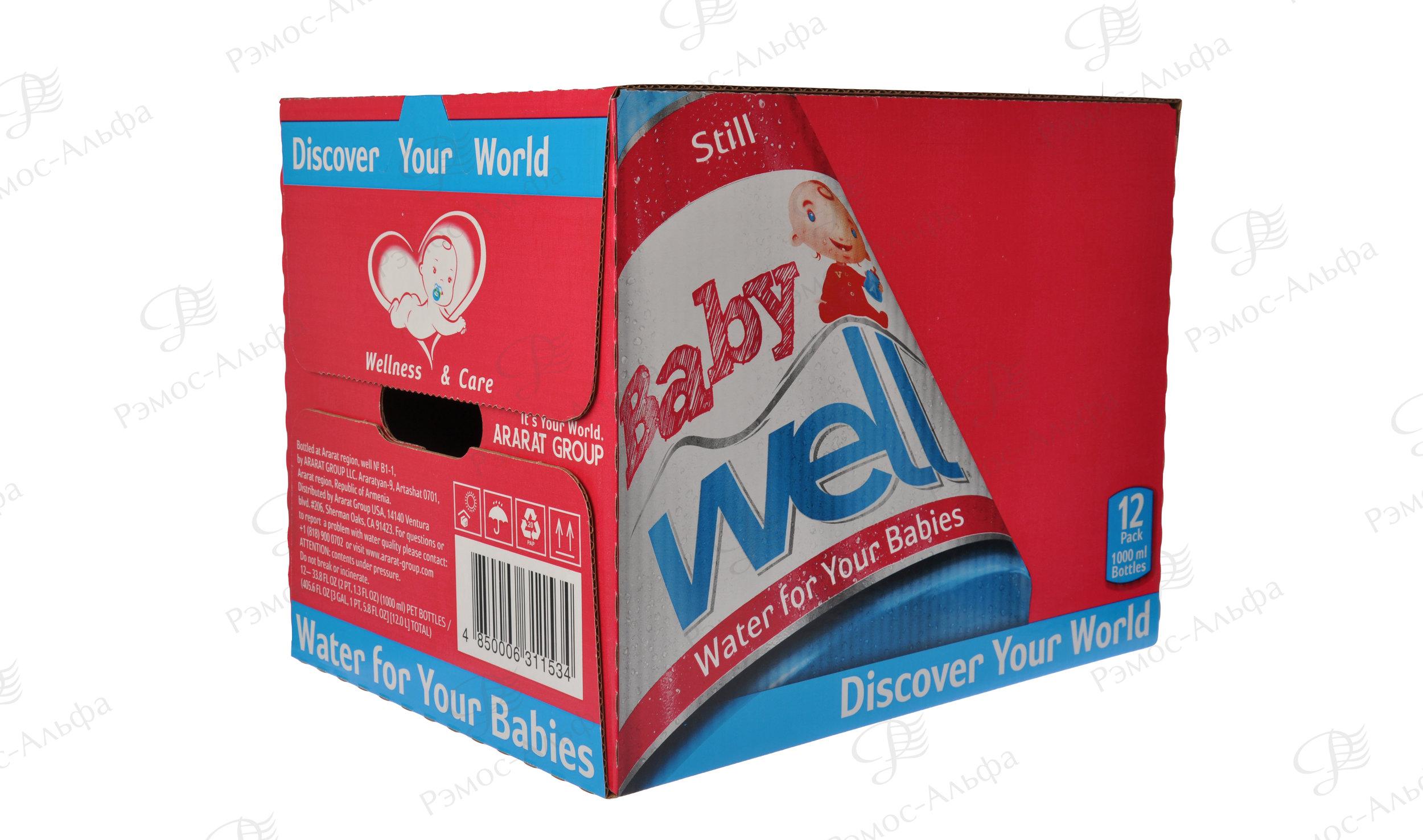 Короб нашего клиента «Арарат» - вода для детей