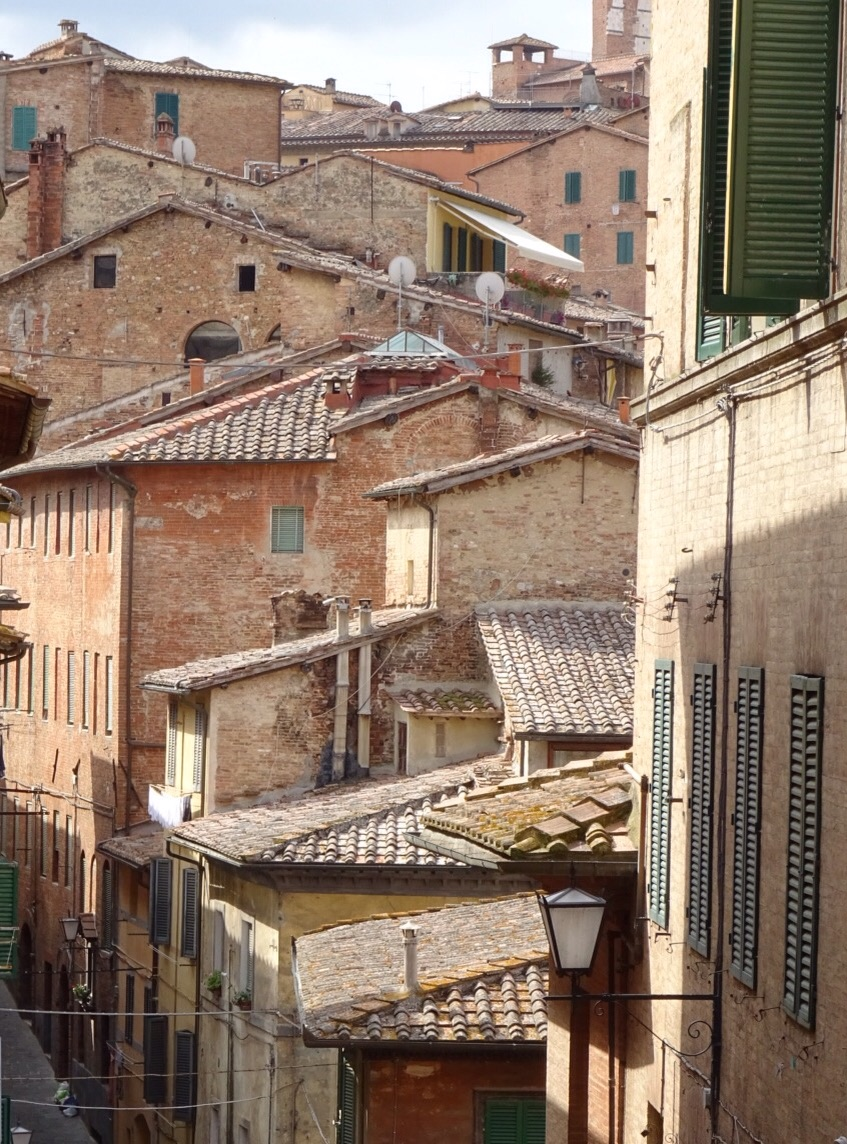 A typical side street in Siena.