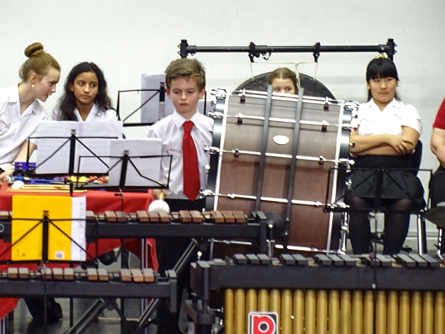 The New Concert Bass Drum in use bought by the charity.