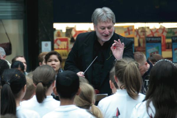 A workshop day with inspiring Composer / Conductor Colin Touchin - paid for by our charity.