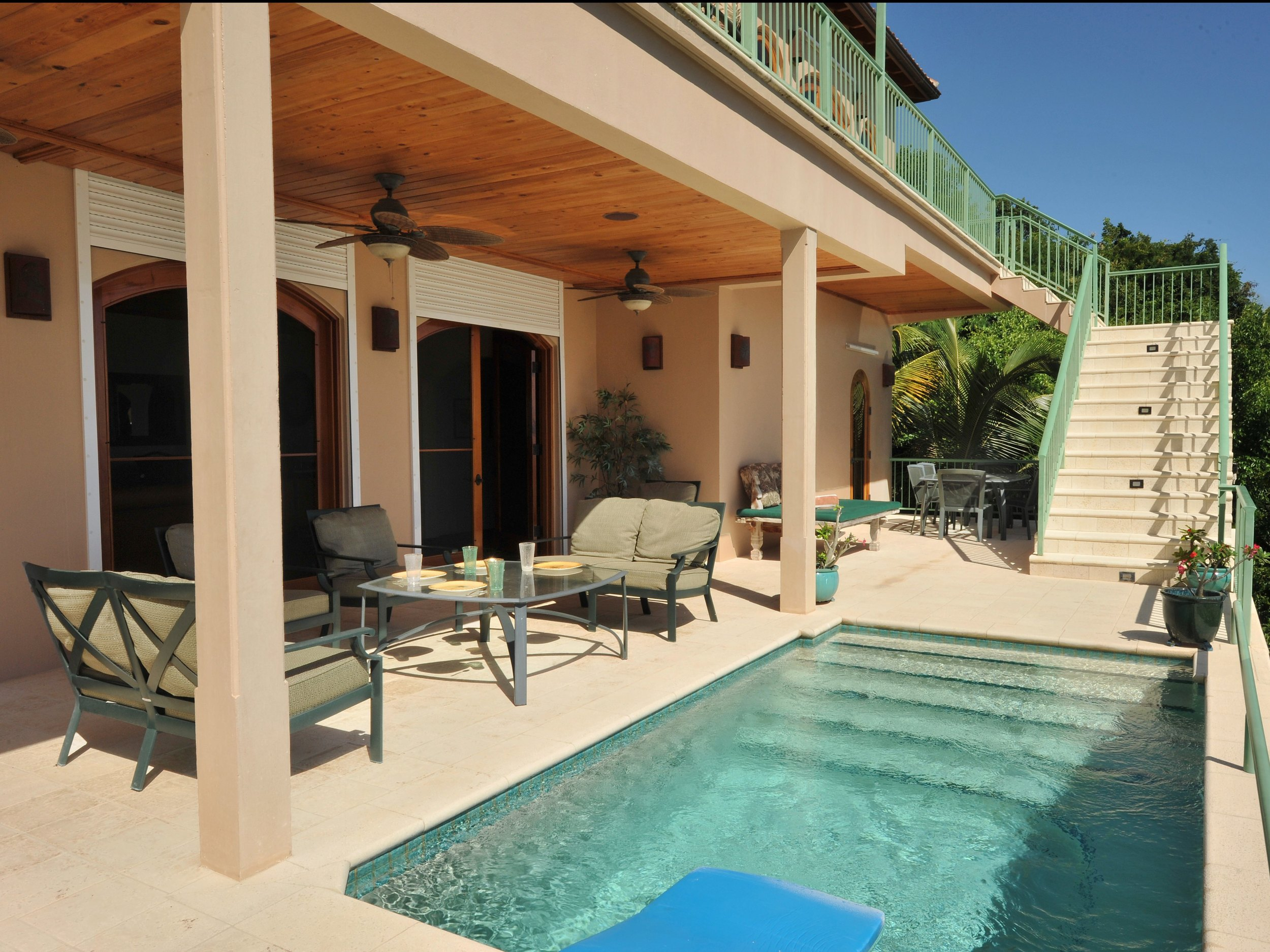 Pool and Lower Deck Area
