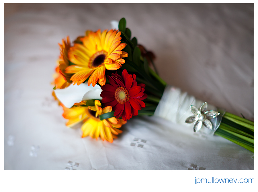 Wedding Bouquet on Bed